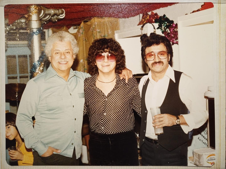 Joe Armando con Tito Puente y Edy Martínez