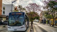 Transmetro por las calles de Barranquilla