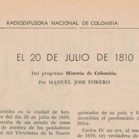 Historia de Colombia en la Radio Nacional