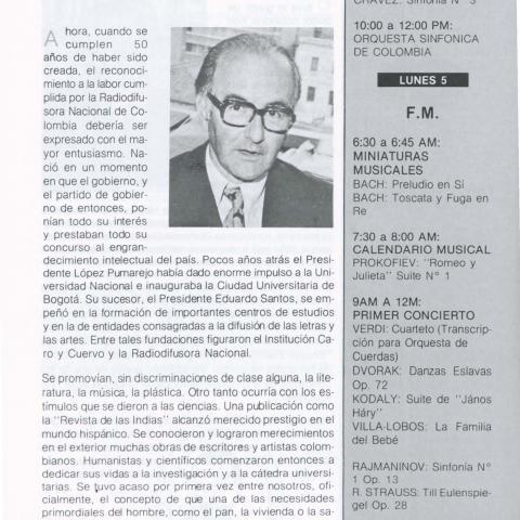50 años de la Radiodifusora Nacional