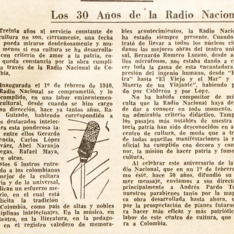 Alusiones - Los 30 años de la Radio Nacional