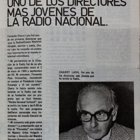 Fernando Charry: uno de los directores mas jóvenes de la Radio Nacional