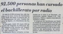 92500 personas han cursado el bachillerato por radio