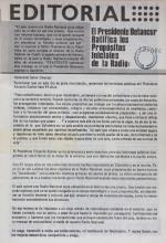 Editorial Revista Teletexto - El Presidente Betancur ratifica los propósitos iniciales de la Radio