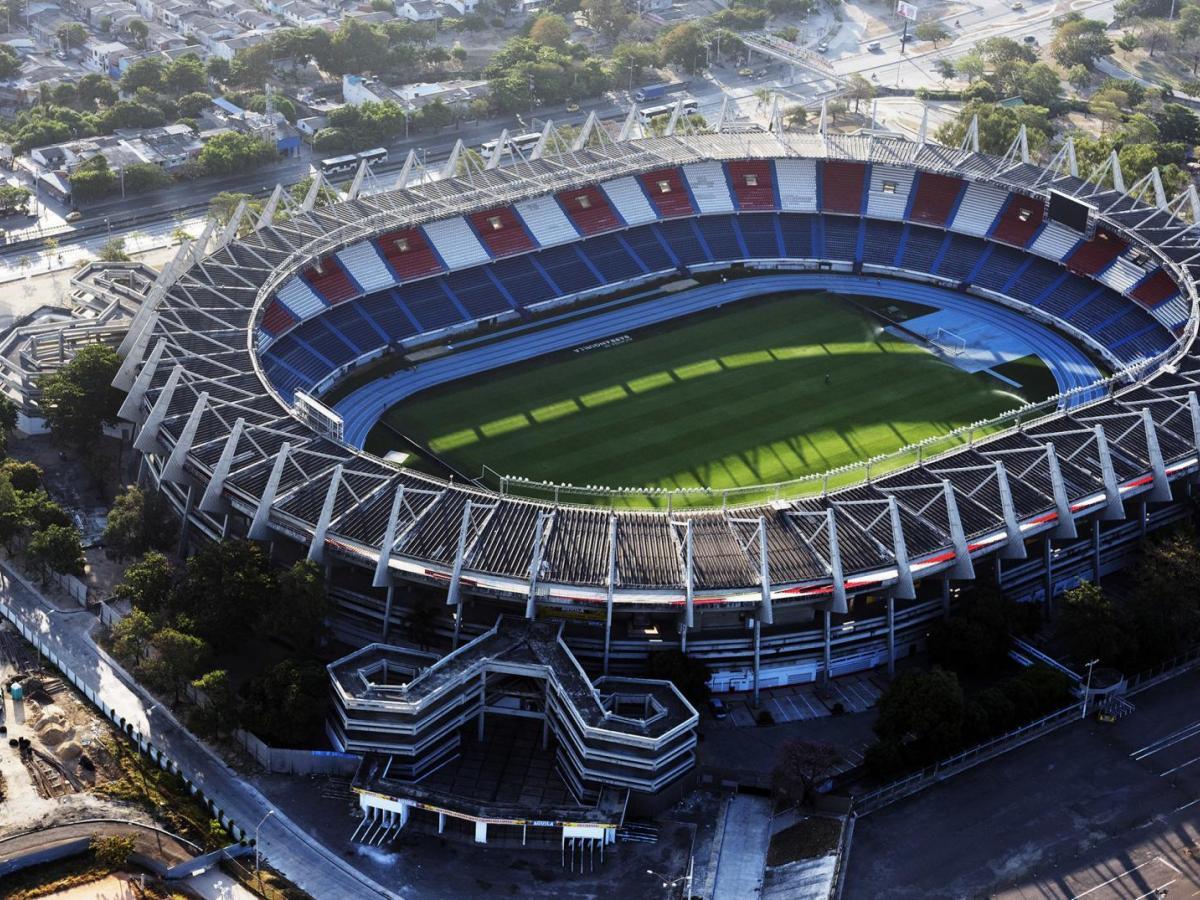 Vista aérea del Estadio Metropolitano Roberto Meléndez de Barranquilla