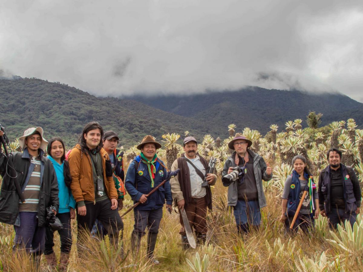 Equipo de producción del Documental indígena