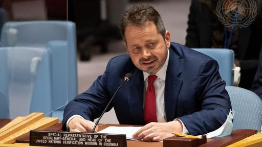 Carlos Ruiz Massieu, jefe de la Misión de Verificación de la ONU en Colombia