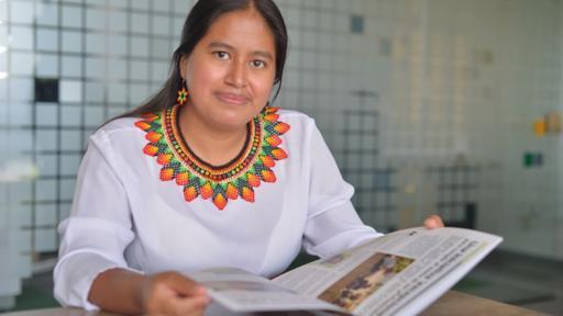 La primera mujer Inga que logra un postgrado y una maestría