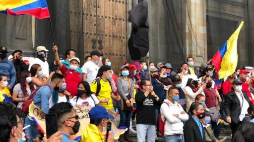 CIDH pide frenar violencia contra manifestantes colombianos